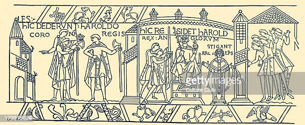 Coronation of Harold II 1066 19th century illustration H Harold II also known as Harold Godwinson last AngloSaxon king of England c 1022 – 14 October...