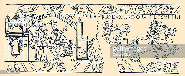 Harold leaving Edward the Confessor to set out of his journey to Normandy 1064 19th century illustration H Harold II also known as Harold Godwinson...