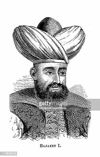 Bayezid I Sultan of Ottoman empire from 13891402 defeated by Tamerlane 1402 Wood engraving