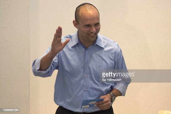 Bayit Yehudi party leader Naftali Bennett casts his vote in the Israeli General Election on January 22 2013 in Ra'anana Israel The latest opinion...