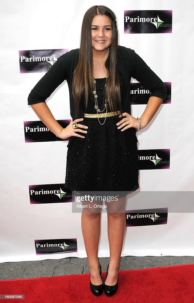 Baylee Valentine arrives for the All Ages Valentine Bash 2013 held at Infusion Lounge on February 2, 2013 in Universal City, California.