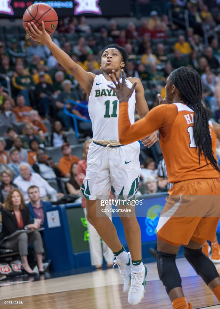 Baylor (11) Alexis Morris going up for two points versus Texas University during the Big 12 Women's Championship on March 05, 2018 at Chesapeake Energy Arena in Oklahoma City, OK.