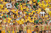 Baylor Bears fans watch the game against the TCU Horned Frogs on September 3 2006 at Floyd Casey Stadium in Waco Texas TCU defeated Baylor 177