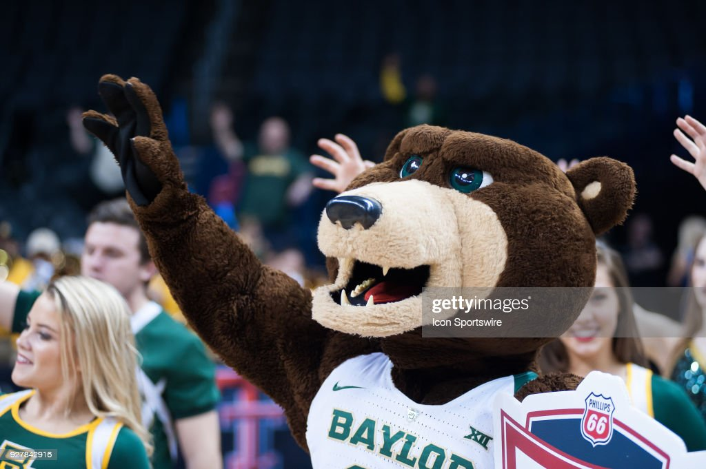 Baylor mascot post game after the game versus Texas during the Big 12 Women's Championship on March 05, 2018 at Chesapeake Energy Arena in Oklahoma City, OK.