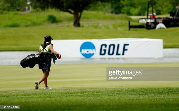 Baylor's Dylan Kim walks to the 15th green during the Division I Women's Golf Individual Championship held at Rich Harvest Farms on May 22 2017 in...