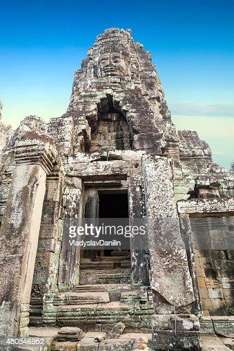 Templo de Bayon, Angkor, Camboja : Foto de stock
