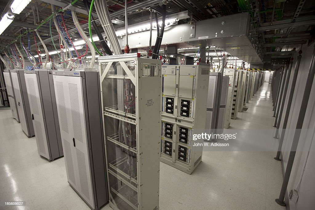 Bays of equipment line the 2G area at an AT&T mobile telephone switching office on October 25, 2012 in Charlotte, North Carolina. The center handles wireless AT&T traffic from the western part of North Carolina.
