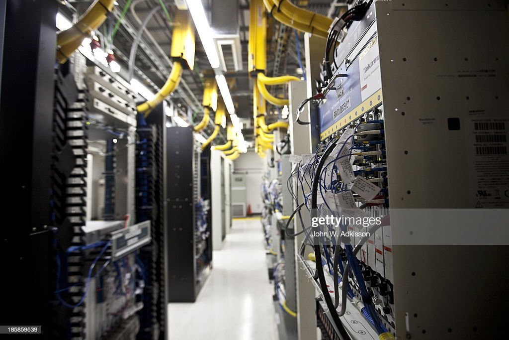 Bays of equipment stand in the 4G area at an AT&T mobile telephone switching office on October 25, 2012 in Charlotte, North Carolina. The center handles wireless AT&T traffic from the western part of North Carolina.