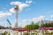 Bayterek is a monument and observation tower in Astana Kazakhstan