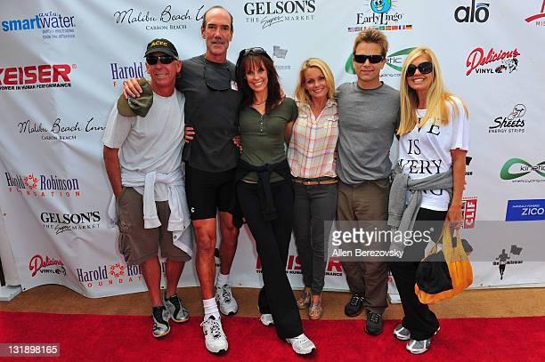 Baywatch creator Greg Bonnan actor Mike Newman actress Alexandra Paul actress Kelly Packard actor David Chokachi and actress Tai Collins arrive at...