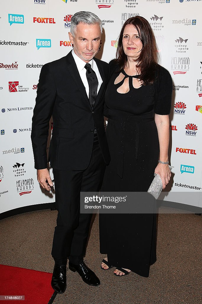 Baz Luhrmann and Catherine Martin arrive at the 2013 Helpmann Awards at the Sydney Opera House on July 29, 2013 in Sydney, Australia.