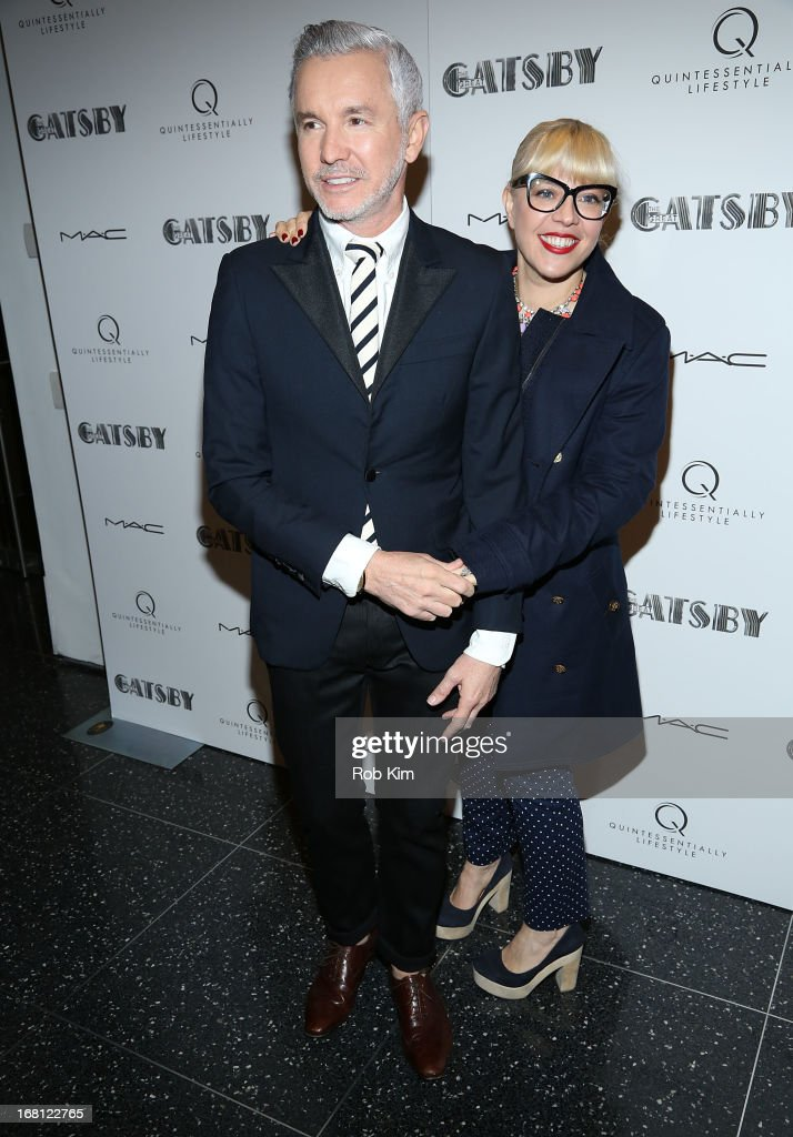 <a gi-track='captionPersonalityLinkClicked' href=/galleries/search?phrase=Baz+Luhrmann&family=editorial&specificpeople=209230 ng-click='$event.stopPropagation()'>Baz Luhrmann</a> and Catherine Martin attend the pre-Met Ball special screening of 'The Great Gatsby' at MOMA on May 5, 2013 in New York City.