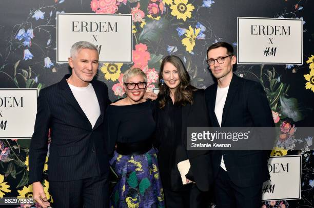 Baz Luhrmann Catherine Martin AnnSofie Johansson and Erdem Moralioglu at HM x ERDEM Runway Show Party at The Ebell Club of Los Angeles on October 18...