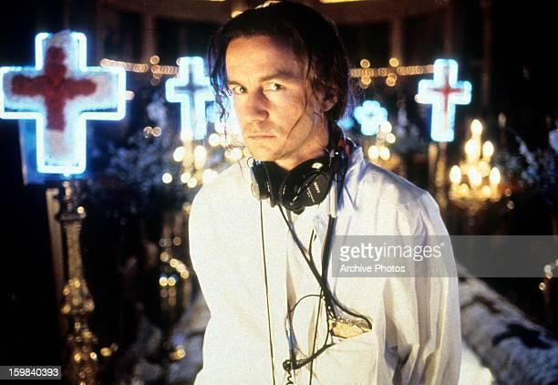 Baz Luhrmann on the set of the film 'Romeo Juliet' 1996