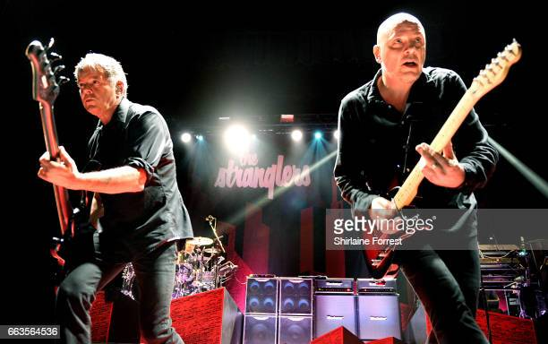Baz Warne and Jean Jacques Burnel of The Stranglers perform at O2 Apollo Manchester on April 1 2017 in Manchester United Kingdom