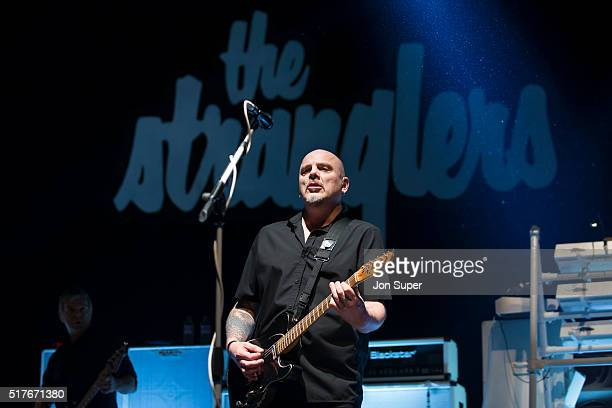 Baz Warne of The Stranglers performs on stage at O2 Apollo Manchester on March 26 2016 in Manchester United Kingdom