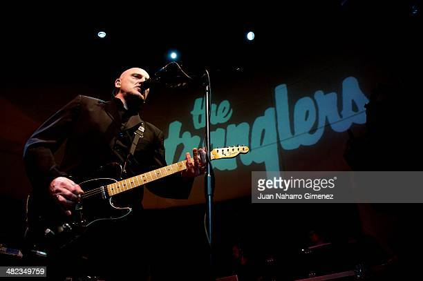 Baz Warne of The Stranglers performs on stage at Shoko on April 3 2014 in Madrid Spain