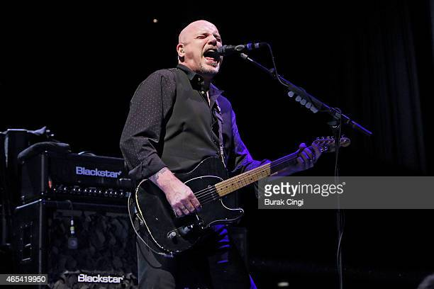 Baz Warne of The Stranglers performs on stage at The Roundhouse on March 6 2015 in London United Kingdom