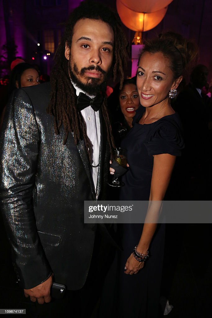 Bazaar Royale and Jen Yu attend the 2013 BET Networks Inaugural Gala at Smithsonian National Museum Of American History on January 21, 2013 in Washington, United States.
