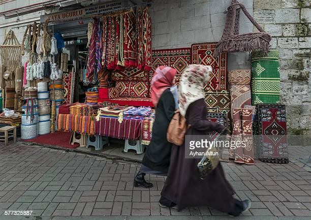 Bazaars and open air market in Eminonu, Istanbul