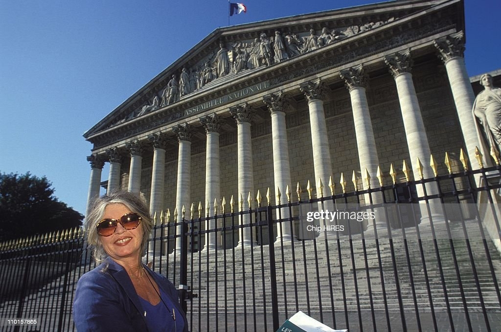 B.Bardot at the National Assembly in Paris, France on June 24, 1994.
