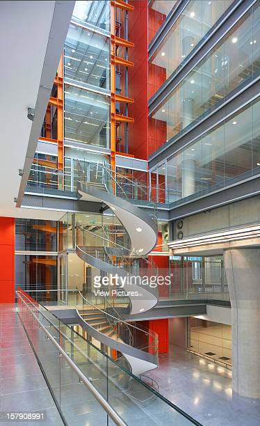 Sr/Sheppard Robson London Atrium With Spiral StaircaseOffice Architect