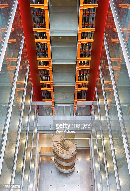 Sr/Sheppard Robson London Elevated View Of Atrium With Spiral StaircaseOffice Architect