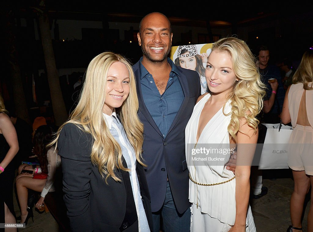 BCBGeneration creative director Joyce Azria, associate publisher of Nylon magazine Karim Abay and actress Francesca Eastwood attend the Nylon + BCBGeneration May Young Hollywood Party at Hollywood Roosevelt Hotel on May 8, 2014 in Hollywood, California.