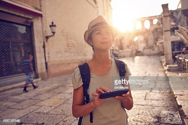 Ein Reisender nicht als tourist