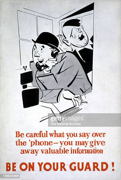 Be Careful What You Say Be On Your Guard WWII Careless Talk poster