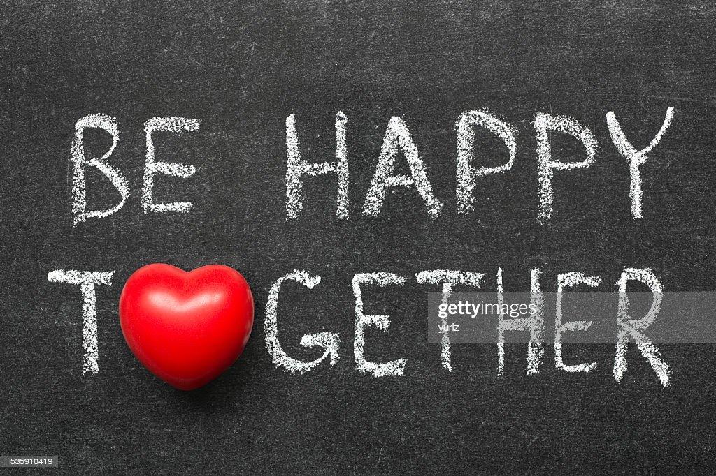 Seja feliz em : Foto de stock