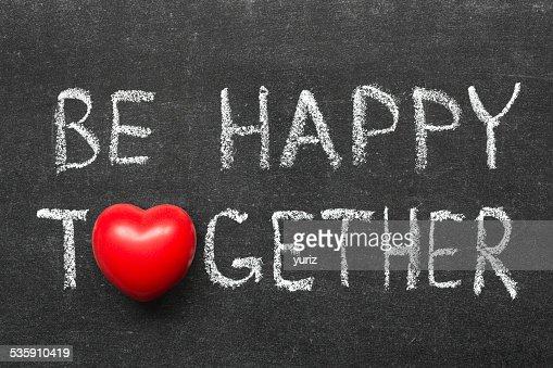 Sé feliz juntos : Foto de stock