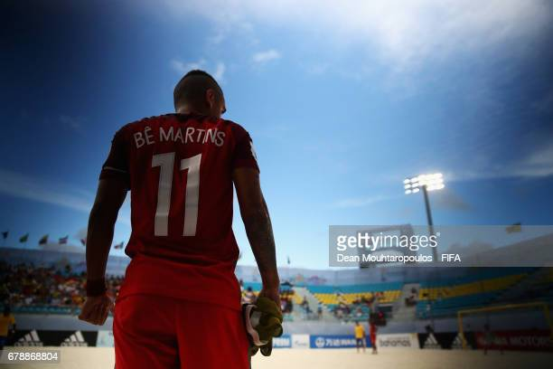 Be Martins of Portugal waits to come on during the FIFA Beach Soccer World Cup Bahamas 2017 quarter final match between Brazil and Portugal at...