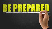 Be Prepared on chalkboard