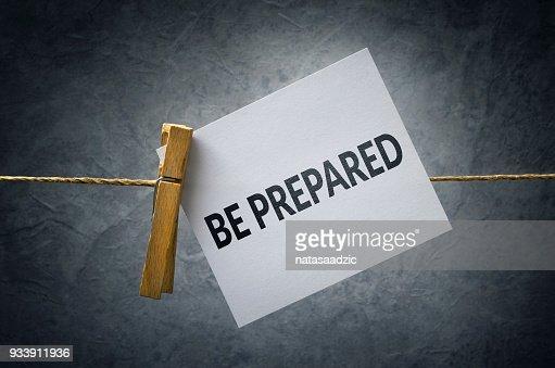 Be Prepared : Stock Photo