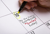 Be The Reason Someone Smiles Today calendar note