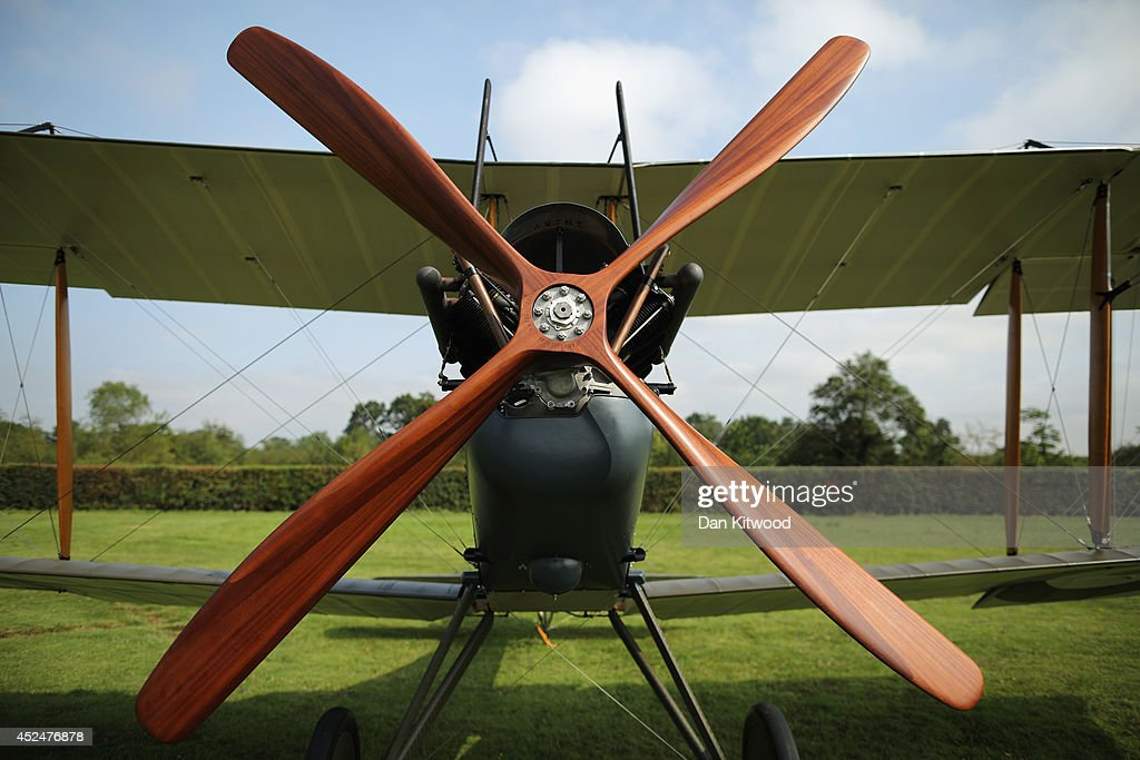 A Be2 is displayed at 'The Shuttlesworth Collection' at Old Warden on July 21, 2014 in Biggleswade, England. Of the 55,000 planes that were manufactured by the Royal Army Corps (RAC) during WWI, only around 20 remain in airworthy condition. Six of these belong to The Shuttleworth Collection at Old Warden, Bedfordshire, making it the most complete collection of original airworthy WWI aircraft in the world. Amongst the collection is the SE5a. The SE5a is a single seater fighter aircraft. It is an original biplane designed by the Royal Aircraft Factory, with its engine built by Wolseley Motors Ltd, and it was issued to 84 Squadron in November 1918. The National Archive in Kew has recently verified that the plane saw action in France with 84 Squadron the day before Armistice, November 10, 1918.