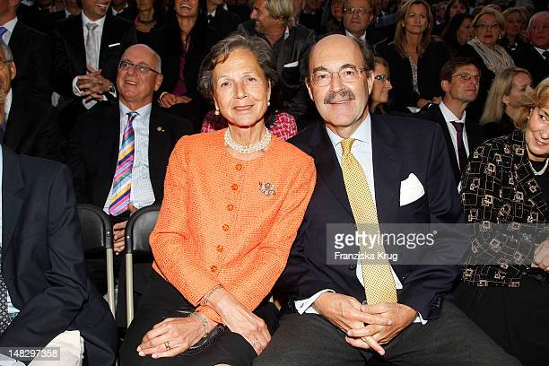 Bea and Fritz von Thurn und Taxis attend the opera 'The Magic Flute' at the Thurn Taxis Castle Festival Opening on July 13 2012 in Regensburg Germany