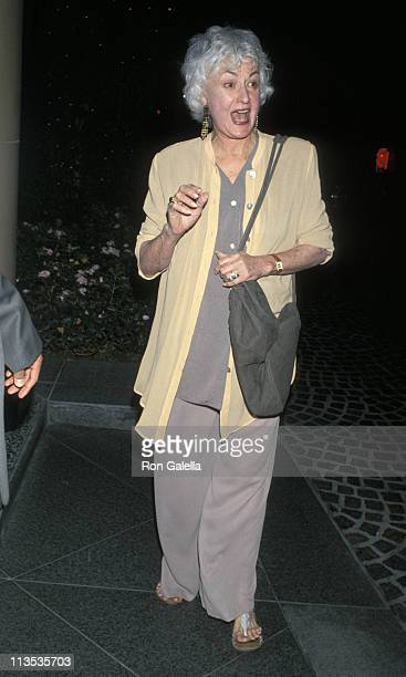 Bea Arthur during Hollywood 'Comes Out' Honors Senator Paul D Wellstone at Beverly Wilshire Hotel in Beverly Hills California United States