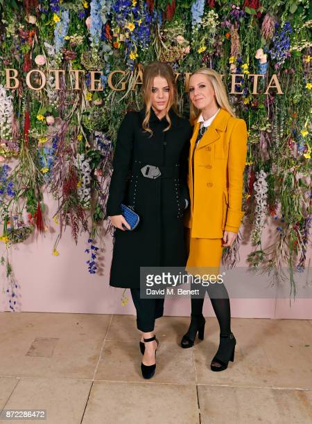 Bea Fresson and Alice Naylor Leyland attend Bottega Veneta's 'The Hand of the Artisan Cocktail Dinner' at Chiswick House And Gardens on November 9...