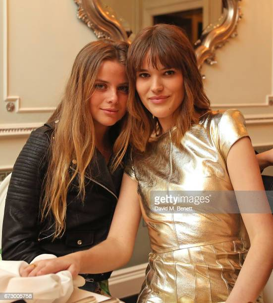 Bea Fresson and Frankie Herbert attend a VIP dinner celebrating Mrs Alice for French Sole at The Connaught Hotel on April 25 2017 in London England