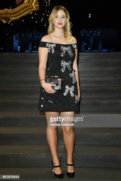 Bea Fresson attends the Dolce Gabbana show during Milan Fashion Week Spring/Summer 2018 on September 24 2017 in Milan Italy