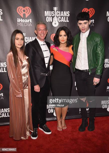 Bea Miller Elvis Duran Demi Lovato and Leon Else attend A Night To Celebrate Elvis Duran presented by Musicians On Call at The Edison Ballroom on...