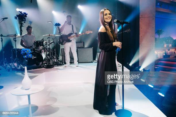 Bea Miller performs during 'The Late Late Show with James Corden' Thursday March 30 2017 On The CBS Television Network