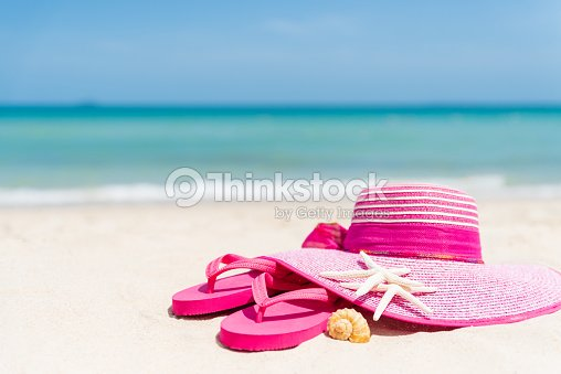 82a10fbd4d9d Beach Accessories Including Pink Flip Flop Starfish Pink Hat Beach ...