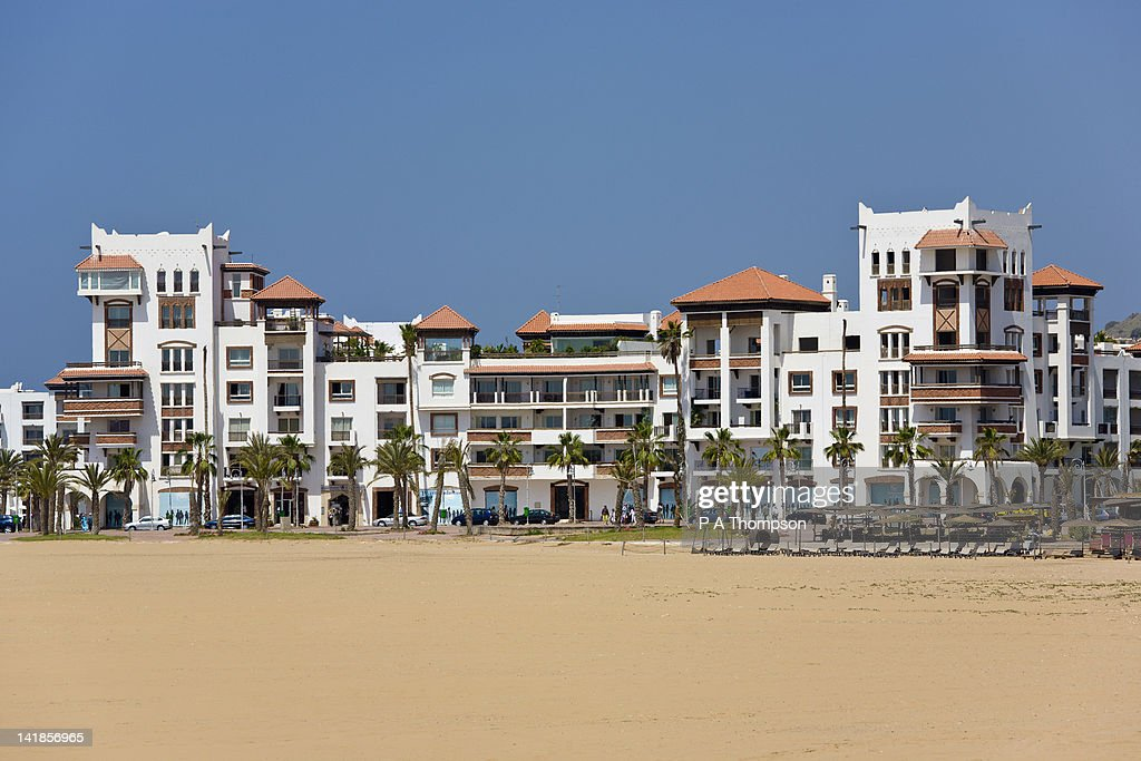 Beach and apartments at Agadir, Morocco