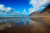 Beach and cliff of Famara