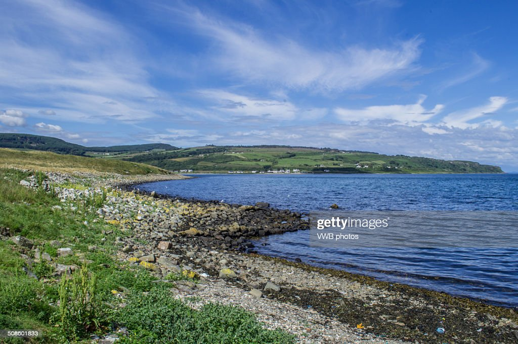 Beach and coastline, Pladda, Firth of the Clyde : Stock Photo