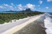 Beach and coral reef Bora Bora Society Islands French Polynesia Overseas Territory of France