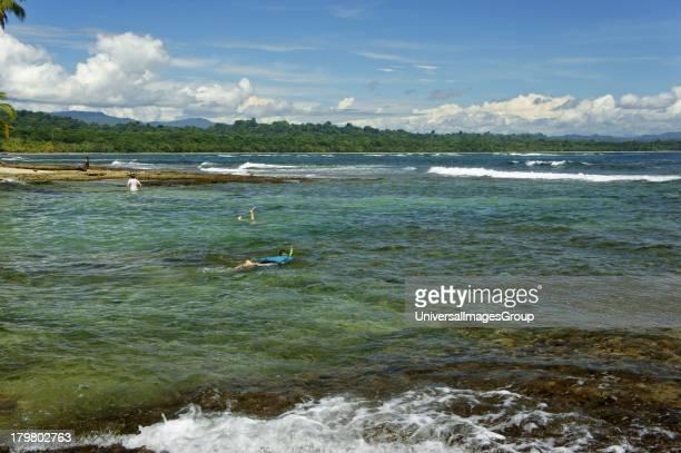 Beach and cove in Manzanillo Costa Rica